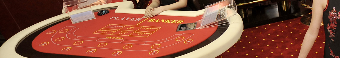 baccarat table layout